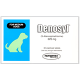 Denosyl 225 Mg 30 Ct For Medium Dogs 13 To 34 Lbs.