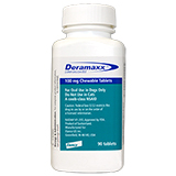 Deramaxx 100 mg Chewable Tablets 90 ct Deramaxx 100mg Chewable Tablets 90ct btl.