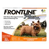 Frontline Plus 12pk Dogs 5-22 lbs