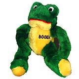 Booda Medium Stretchy Frog Plush Dog Toy