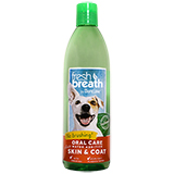 TropiClean Fresh Breath Water Additives for Pets + Skin & Coat TropiClean Fresh Breath Water Additives for Pets + Skin & Coat