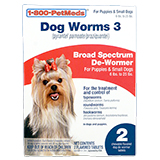 Buy Generic Dog Worms 3 Sm Dog 2ct at PetMeds