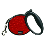 Nicole Miller Retractable Leash - Red Crocodile