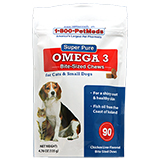 Super Pure Omega 3 Soft Chews - Cats & Small Dogs: 90ct