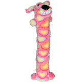 Multipet Loofa Pink Ribbon Dog Toy