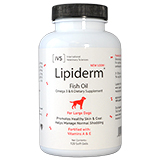 lipiderm gel capsules for large dogs 120ct bottle on lovemypets.com