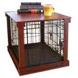 Dog Crate with Woden Cover