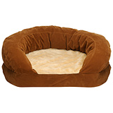 "Ortho Toy Dog Sleeper 20"" Brown Velvet"