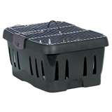 Under Seat Pet Carrier Wire Top 17x11.8x8 Black