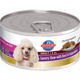 Science Diet Small & Toy Breed Savory Stew Beef 24 X 5.5 oz Cans