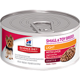 Hill's Science Diet Adult Small & Toy Breed Light with Liver Canned Dog Food