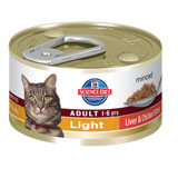Hill's Science Diet Adult Light Liver and Chicken Entree Minced Canned Cat Food