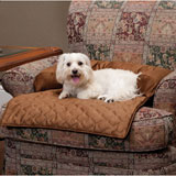 Solvit Sta-Put Bolstered Pet Furniture Protector Medium - Cocoa Medium Bolstered Protector - Cocoa
