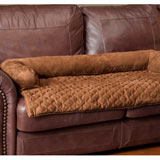 Solvit Sta-Put Bolstered Pet Furniture Protector Large - Cocoa Large Bolstered Protector - Cocoa