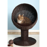 Refined Feline Kitty Ball Luxury Wicker Cat Bed
