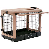 "The Super Dog Crate Small 27"" tan/black"