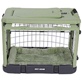 Sage Super Dog Crate with Cozy Bed Small 27""