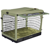 The Super Dog Crate with Cozy Bed