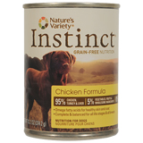 Nature's Variety Instinct Chicken Formula Canned Dog Food 12/13.2oz Cans