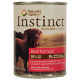 Nature's Variety Instinct Beef Formula Canned Dog Food 12/13.2oz Cans