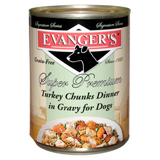Evangers SS Turkey in Gravy Canned Dog Food 12/12oz