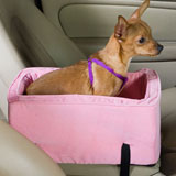 Luxury Console Pet Car Seat - Large Pink/pink Luxury Console Pet Car Seat - Large Pink/pink