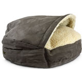 snoozer luxury cozy cave pet bed on lovemypets.com