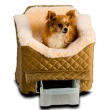 Snoozer Lookout Ii Pet Car Seat - Medium Khaki Snoozer Lookout Ii Pet Car Seat - Medium Khaki