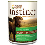 Nature's Variety Instinct Lamb Formula Canned Dog Food 12/13.2oz Cans