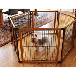 Compare Freestanding Pet Gate Large to Wood Panel Pet Gate and Pen ...
