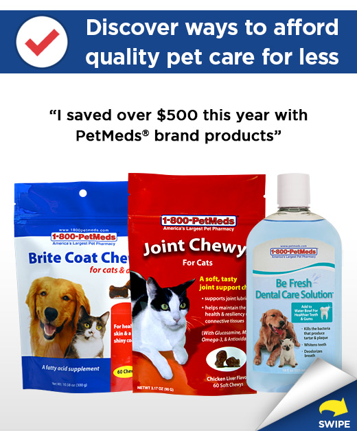I saved over $500 this year with PetMeds® brand products